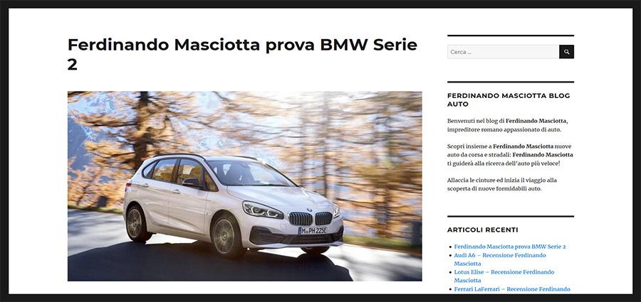 Ferdinando Masciotta recensioni auto