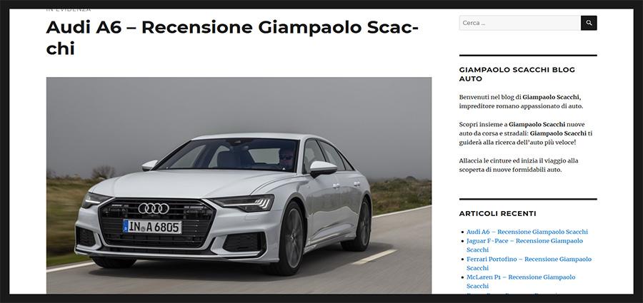 Giampaolo Scacchi recensioni auto